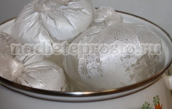 Приготовление колбасы в стаканах