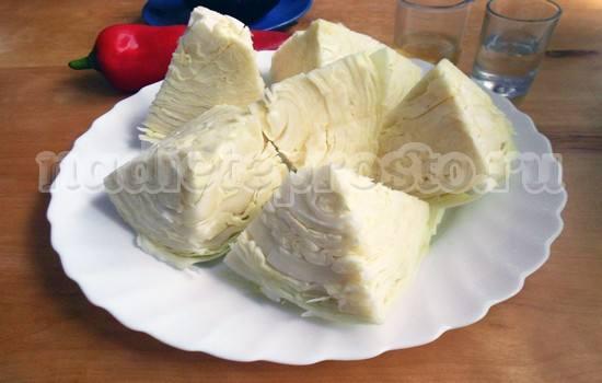 Разрезать капусту