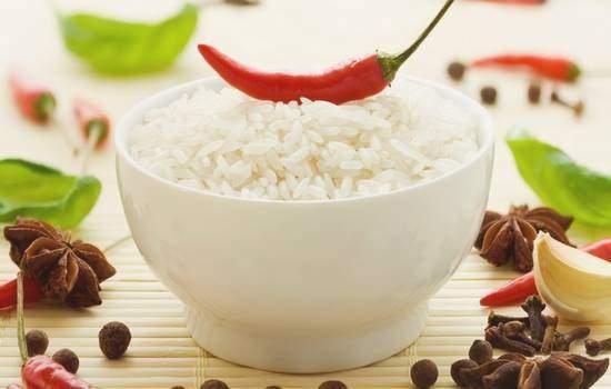 Разгрузка на рисе