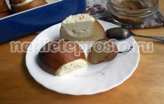 Груши запеченные в духовке с творогом: рецепт с фото