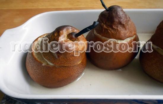 запечь груши в духовке