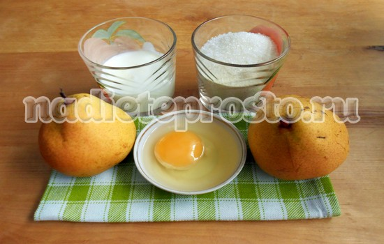 пирог с грушами ингредиенты