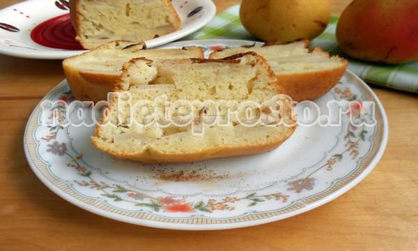 пирог с грушами итог