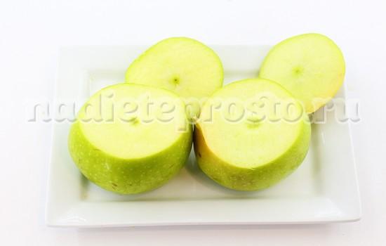 с яблок срезать крышечки