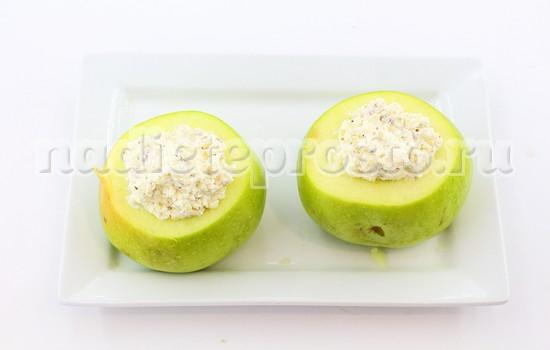 нафаршировать яблоки творогом