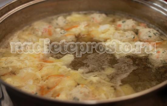 Суп с куриными фрикадельками, пошаговый рецепт с фото
