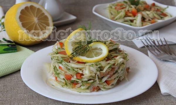 овощной салат с растительным маслом