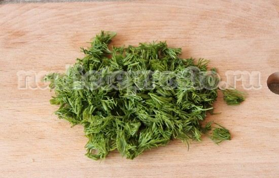 режем зелень