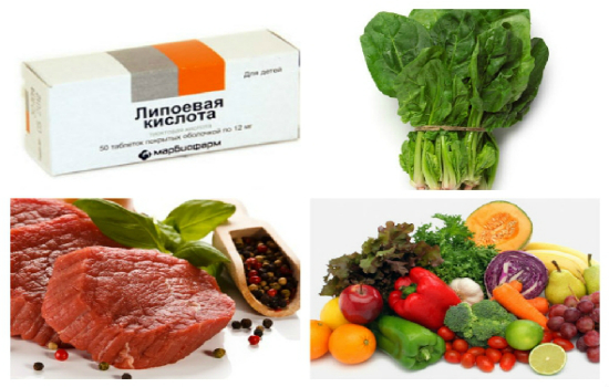 продукты с липоевой кислотой