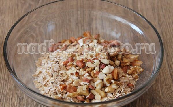 добавить орехи
