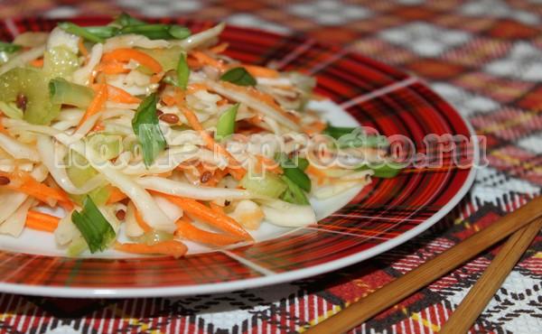 готовый салат для похудения с сельдереем