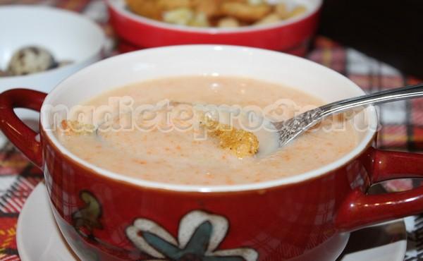 суп-пюре из сельдерея готов