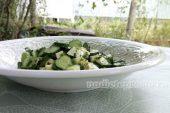 салат из авокадо с огурцом и сыром