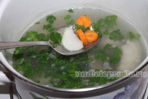 добавить зелень и овощи