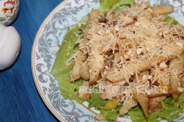 салат с грушей, курицей и сыром