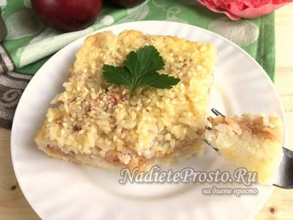 рисовая запеканка с яблоками готова