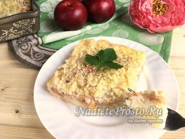 рисовая запеканка с яблоками